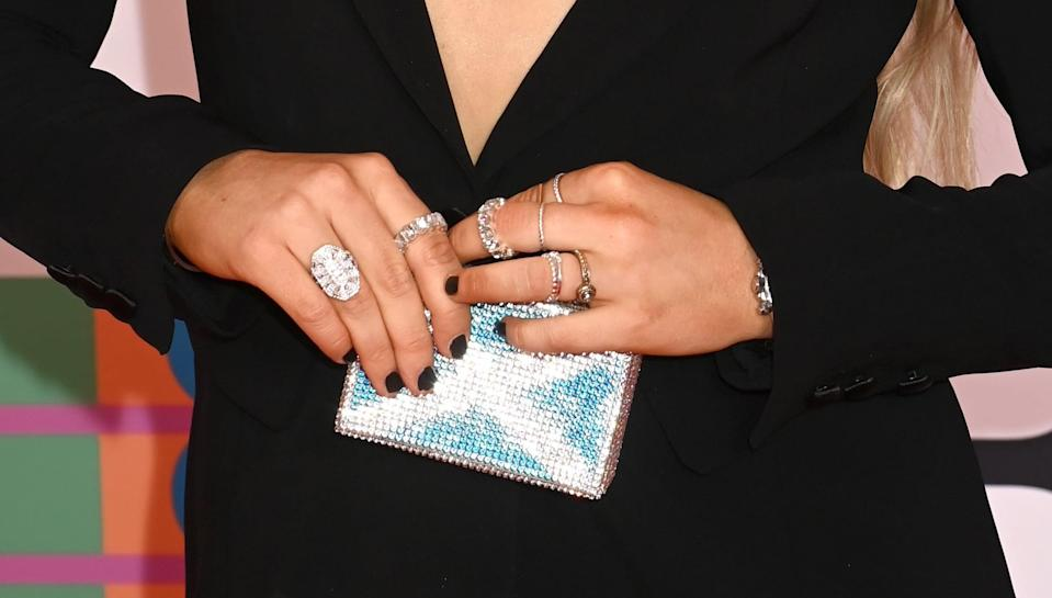 <p>Storm's manicure might not have been the most intricate but it's a classic that worked perfectly with her all-black outfit.</p>