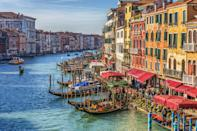 Venice, Italy. Heritage sites around the world are under threat due to conditions created by climate change. Increased risk for floods or fire put some of the world's most famous monuments and locations in jeopardy. (Getty)