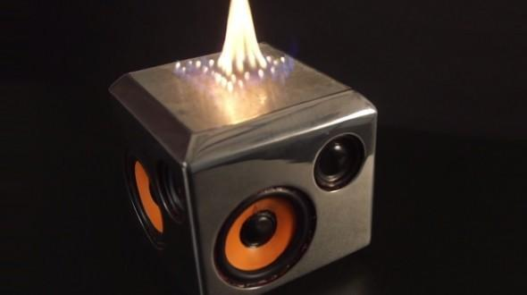 """<p>Blue Oyster Cult once promised us """"Cities on Flame with Rock and Roll."""" That mass pyromania has never come to be, but the next best thing may be a Bluetooth speaker that emits flames that allegedly change in response to the music. You can turn the music off and use it as a portable mini-fireplace, too, the promotional materials promise, if you get burned out (sorry) on impressing your friends and family by playing """"Light My Fire"""" and Arthur Brown. In any case, what boy who ever played with matches can resist a music device that requires not just a battery charge but a lighting fluid refill? Get it <a href=""""http://www.thesoundtorch.com/index.html"""" rel=""""nofollow noopener"""" target=""""_blank"""" data-ylk=""""slk:HERE"""" class=""""link rapid-noclick-resp"""">HERE</a>.</p>"""