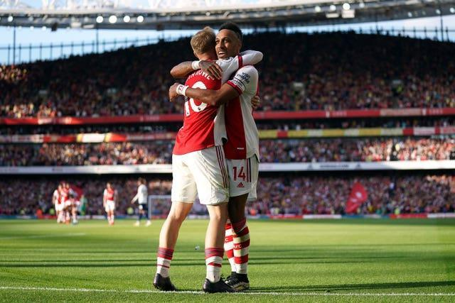 Pierre-Emerick Aubameyang and Emile Smith Rowe were also on target