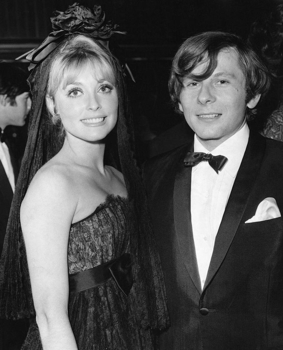 <p>The young actress and up-and-coming director, Roman Polanski, began dating in 1966 after meeting on the set of <em>The Fearless Vampire Killers. </em>Here, Tate accompanies Polanski to the premiere of his 1966 film <em>Cul de Sac. </em> </p>
