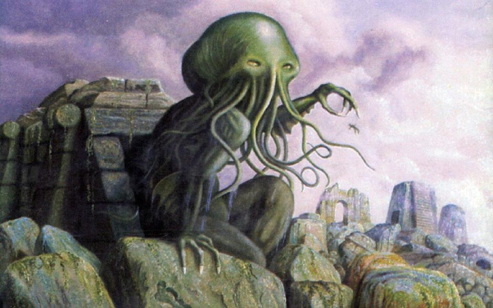 An illustration of Cthulhu, one of HP Lovecraft's most famous creations  - Vin Mag Archive