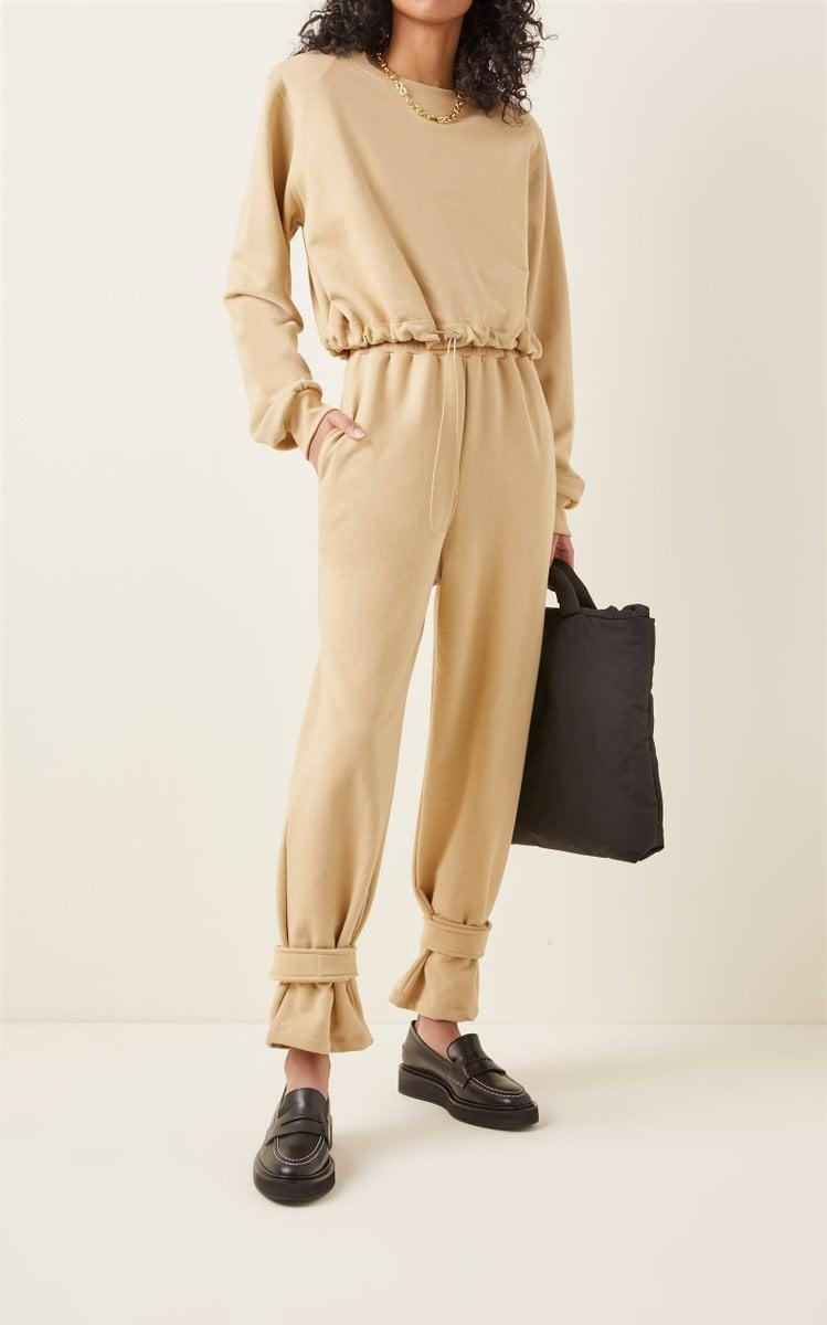<p><span>The Frankie Shop Tab-Detailed Cotton Sweatpants</span> ($134) are a step above the rest.</p>