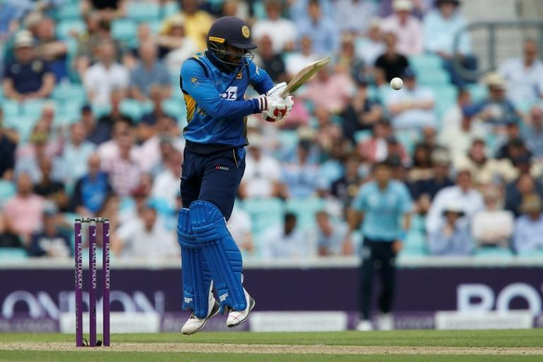 Valuable innings - Sri Lanka's Dhananjaya de Silva on his way to 91 in the second ODI against England at the Oval on Thursday