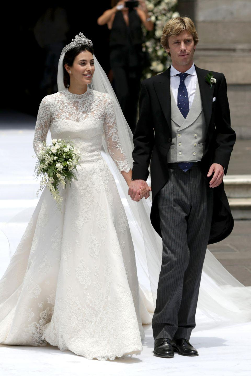 "<p>Prince Christian of Hanover first met Alessandra de Osma in 2005, when she was his tour guide during one of his visits to Peru–but they didn't start dating until years later. Their first appearance as a couple was in 2011, <a class=""link rapid-noclick-resp"" href=""https://us.hola.com/en/celebrities/201706088546/prince-christian-hanover-alessandra-de-osma-wedding-2018-peru/"" rel=""nofollow noopener"" target=""_blank"" data-ylk=""slk:Hola""><em>Hola</em></a> reports. They were engaged in April 2017, according to <a class=""link rapid-noclick-resp"" href=""https://www.popsugar.com/celebrity/Prince-Christian-Hanover-Alessandra-Wedding-Pictures-44674210"" rel=""nofollow noopener"" target=""_blank"" data-ylk=""slk:PopSugar""><em>PopSugar</em></a>. This marked the second wedding for the couple; they first said ""I do"" in a civil ceremony in London in November 2017. The couple had their formal ceremony in Lima, on March 16, 2018.</p>"