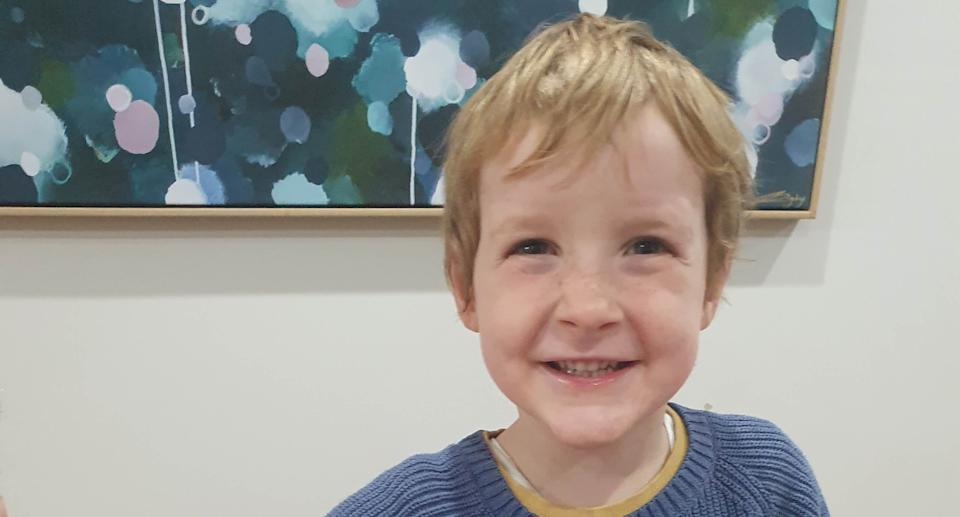 A photo of Owen who is allergic to dairy, eggs and peanuts. Source: Supplied