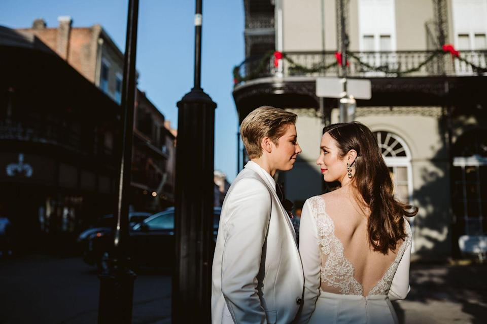 <p>New Orleans provided the perfect backdrop for Chelsey and Carmen's wedding day portraits in December 2019. There aren't many other places where you can get away with parading down the street with a full band behind you, which is exactly what these two did on their big day. </p>