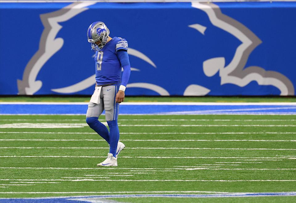 Matthew Stafford and the Lions were never really in playoff contention this season. Detroit hasn't made the playoffs since the 2016 season. (Photo by Rey Del Rio/Getty Images)