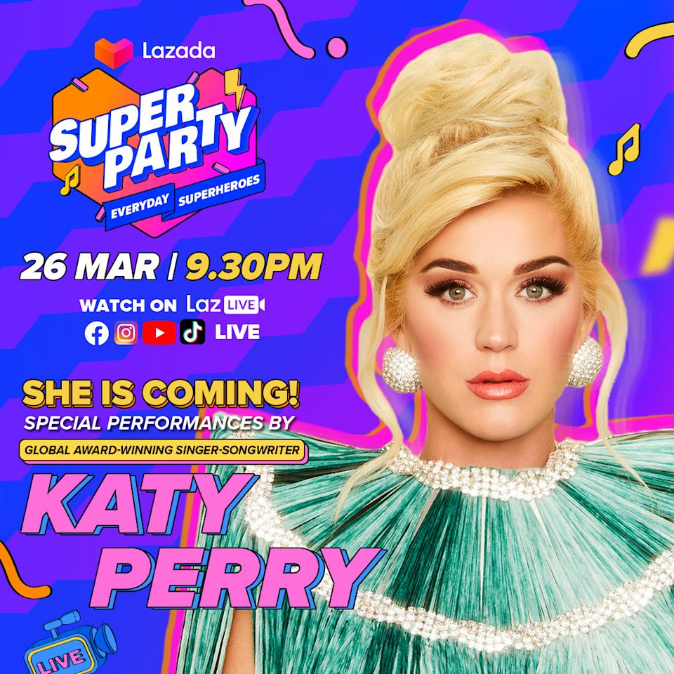 Katy Perry performing for Lazada Super Party. (PHOTO: Lazada)