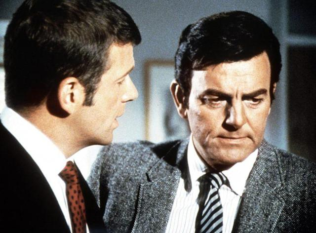MANNIX, (from left): Robert Reed, Mike Connors, 1967-75. (Photo: Everett Collection)