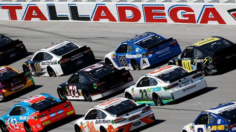 Almirola saves fuel, wins at Talladega