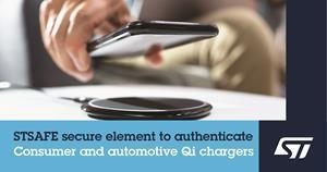 STSAFE secure element to authenticate consumer and automotive Qi chargers