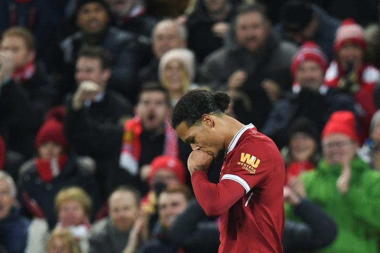 Virgil Van Dijk moved to Anfield for £75 million (85m euros, $104m) in January, but has been on the winning side in just one of his four outings for Liverpool since