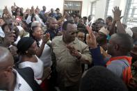 FILE PHOTO: Freeman Mbowe, chairman of Chadema, Tanzanian main opposition party arrives at Kisutu Magistrate Court in Dar es Salaam