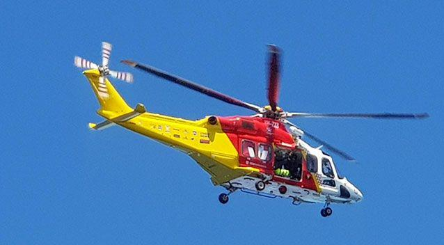 A Westpac Life Saver Rescue helicopter. Source: Robbie Shenton