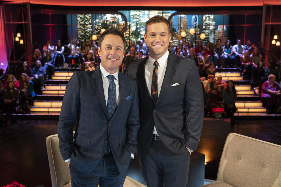 Chris Harrison congratulates Colton Underwood for speaking his truth.