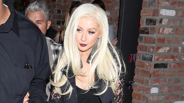 Christina Aguilera Looks Fashionably Chic During Rare Night Out in Los Angeles: Pic!