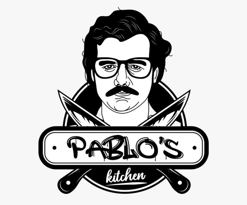 The logo of Pablo's Kitchen bears an image of notorious Colombian drug lord and narcoterrorist Pablo Emilio Escobar Gaviria, whose life story was glamourised in the American crime drama television series Narcos. (PHOTO: Facebook/Pablos Kitchen)