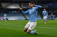 Ferran Torres got the opener as Manchester City beat Olympiakos 3-0