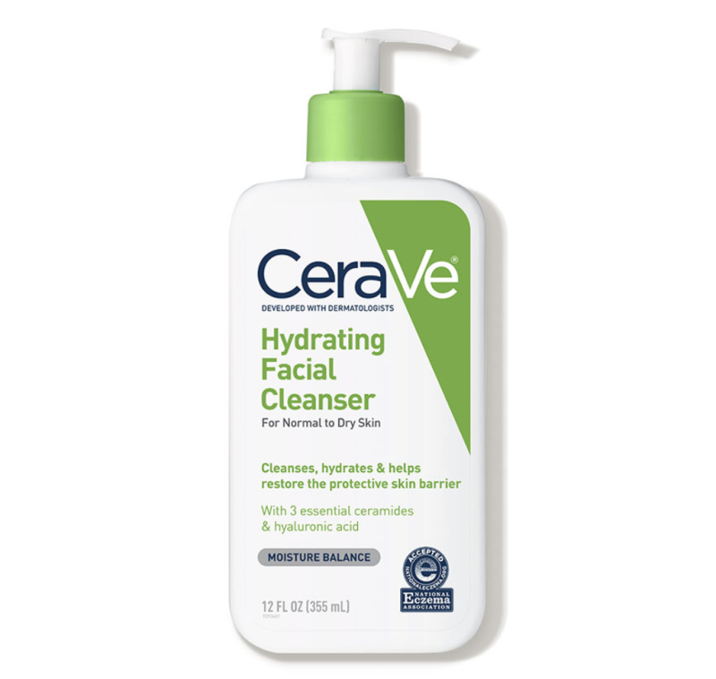 CeraVe Hydrating Facial Cleanser (Credit: Dermstore)