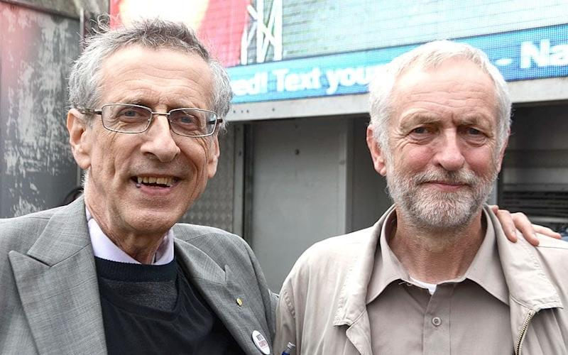 Jeremy Corbyn and older brother Piers (left) - ALAMY/PHILIP ROBINS