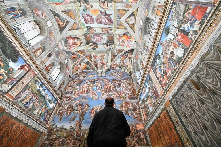The Sistine Chapel normally welcomes hordes of tourists