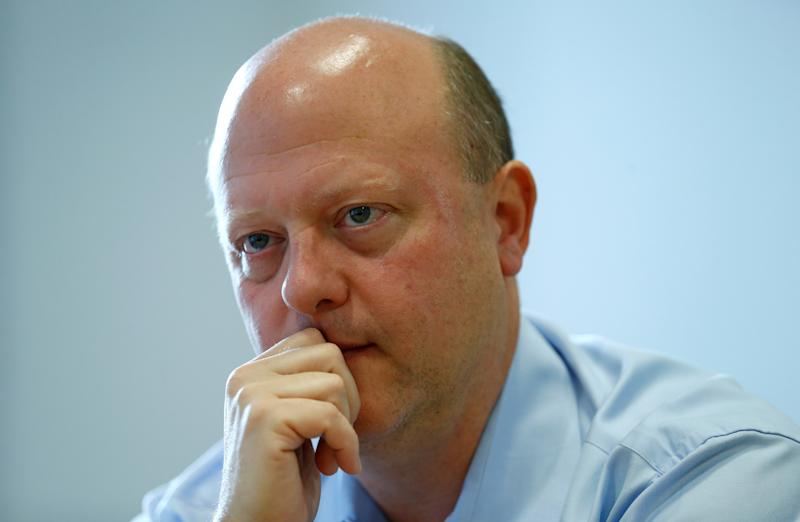 Jeremy Allaire, the Chief Executive Officer of cryptocurrency start-up Circle, listens to a question during an interview, in London, Britain, October 22, 2018. Picture taken October 22, 2018. REUTERS/Andrew Winning