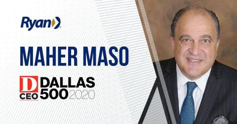 D CEO Names Maher Maso to the Dallas 500 List of Most Influential Business Leaders