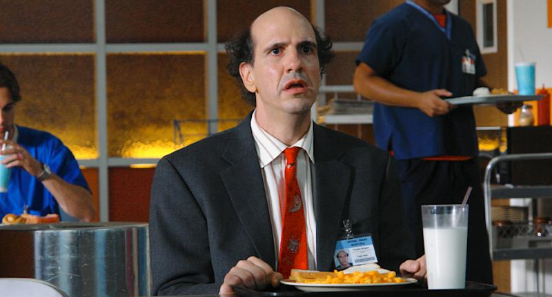 Sam Lloyd has died aged 56. He is pictured here on the set of Scrubs.