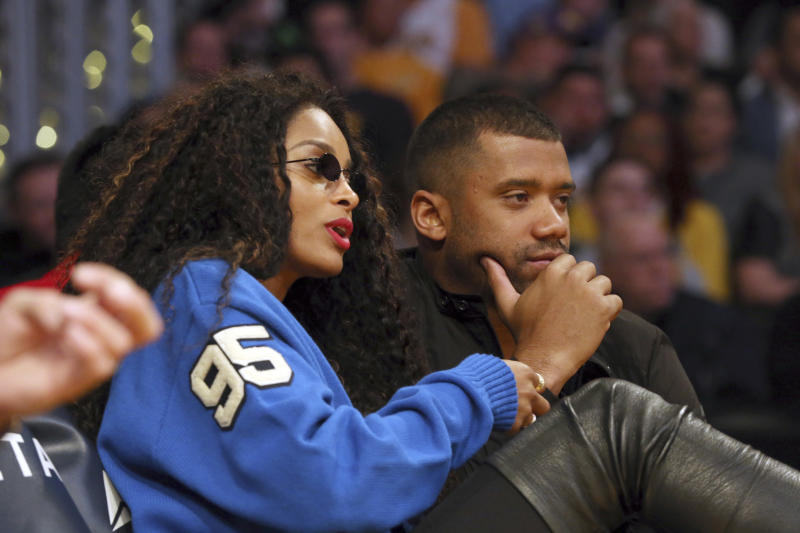 Russell Wilson and Ciara have invested in a group trying to bring an MLB team to Portland. (AP)