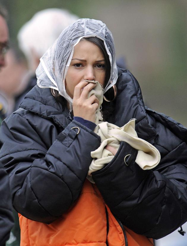 Celebrity photos: Michelle Keegan was voted Sexiest Female at the British Soap Awards over the weekend, but the Coronation Street actress looked a million miles from her preened self as she shot the show this week. She still looks gorge even in a rain cap, though.
