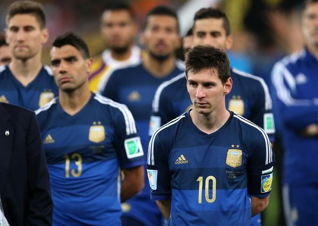Lionel Messi's Argentina were beaten in the 2014 World Cup final by Germany (Mike Egerton/PA).
