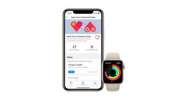 PHOTO: A new Apple app will allow people to take part in health studies like those based for your heart through the use of their Apple watches. (Apple)