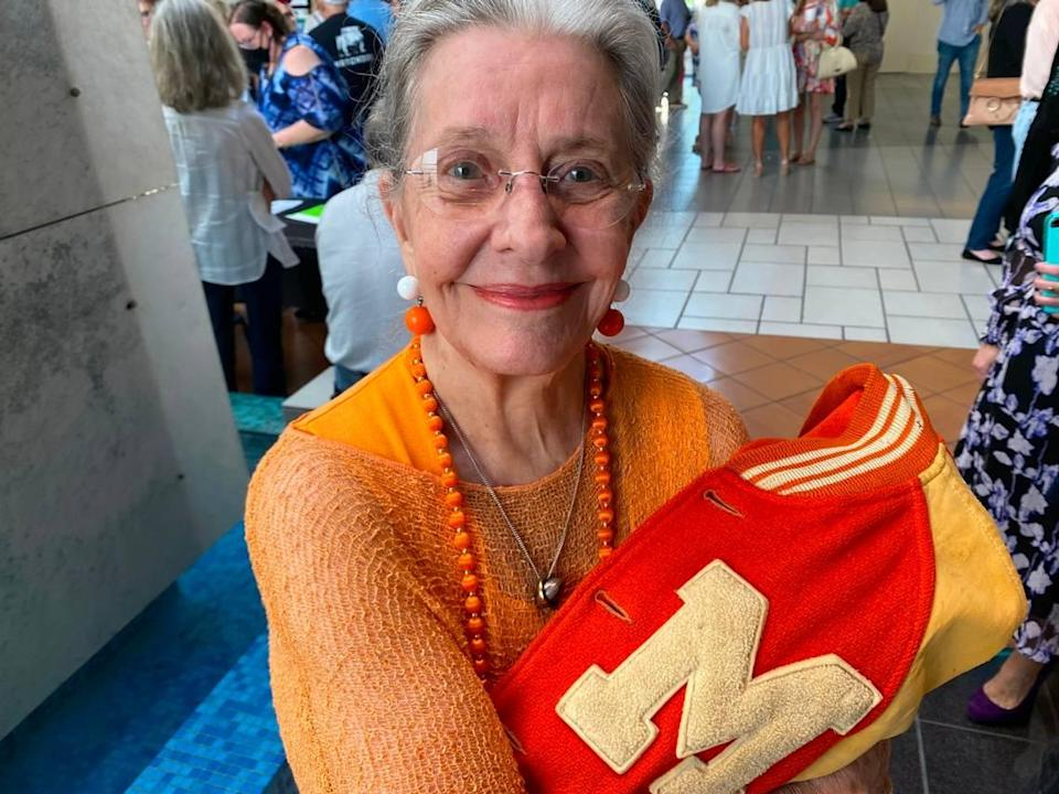 """Opal Lord, 91, of Dallas is a Masonic Home graduate who came to Fort Worth June 9, 2021, to see herself depicted on screen as an injued player's girlfriend in the movie """"12 Mighty Orphans."""""""