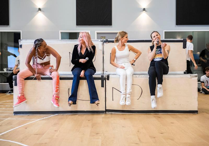 The Spice Girls rehearsing ahead of their upcoming tour (Andrew Timms/PA Wire)