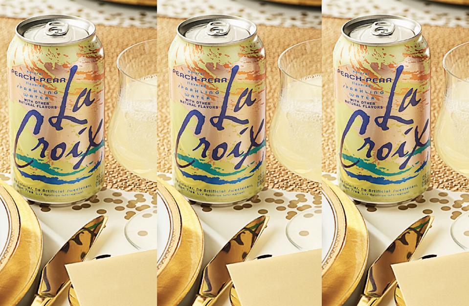 """<p>Top off a mix of pear juice and grapefruit juice with LaCroix's peach-pear sparkling water for a <a href=""""https://www.theactivetimes.com/travel/51-famous-movie-locations-you-can-actually-visit?referrer=yahoo&category=beauty_food&include_utm=1&utm_medium=referral&utm_source=yahoo&utm_campaign=feed"""" rel=""""nofollow noopener"""" target=""""_blank"""" data-ylk=""""slk:Hollywood-esque"""" class=""""link rapid-noclick-resp"""">Hollywood-esque</a> mocktail fit for a star.</p> <p><a href=""""https://www.thedailymeal.com/recipes/screen-siren-mocktail-lacroix?referrer=yahoo&category=beauty_food&include_utm=1&utm_medium=referral&utm_source=yahoo&utm_campaign=feed"""" rel=""""nofollow noopener"""" target=""""_blank"""" data-ylk=""""slk:For the Screen Siren recipe, click here."""" class=""""link rapid-noclick-resp"""">For the Screen Siren recipe, click here.</a></p>"""