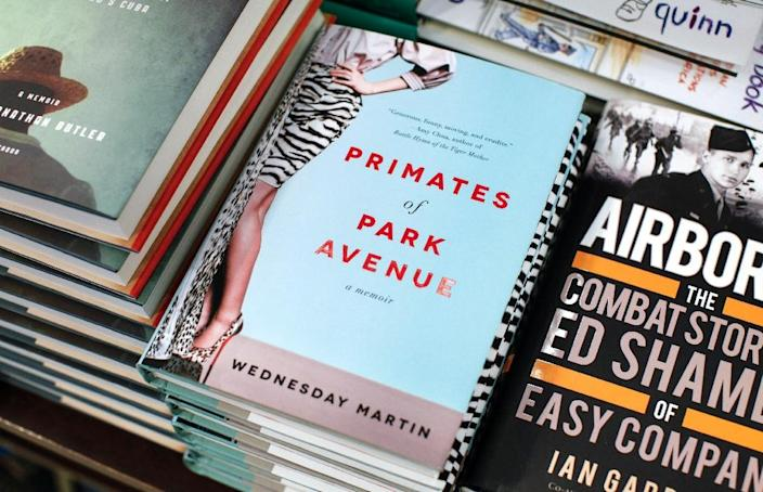 The Book 'Primates of Park Avenue' by Wednesday Martin is displayed at a book store on 5th Avenue in New York on June 9, 2015 (AFP Photo/Kena Betancur)
