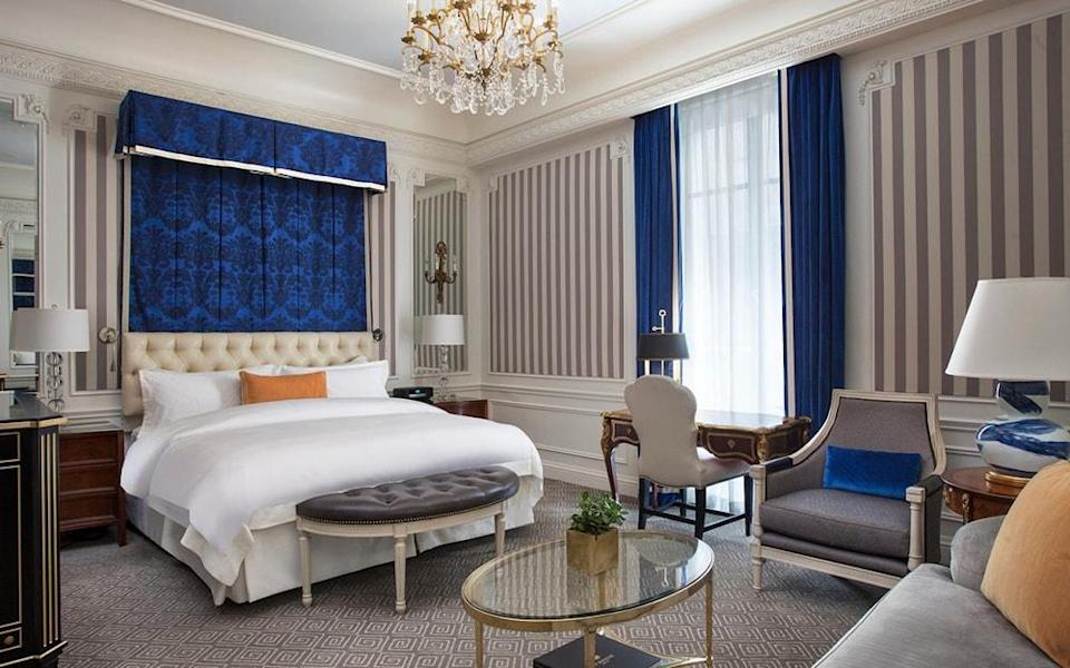 The St. Regis New York aims to offer the best service and amenities, with each visitor receiving first-class treatment.
