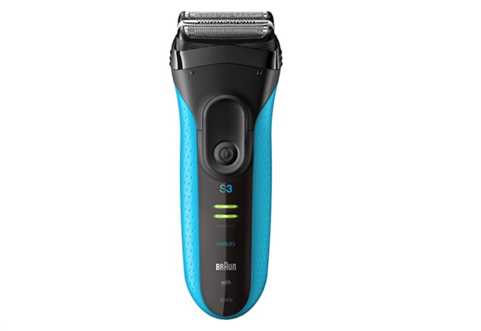 """<p><strong>Braun</strong></p><p>amazon.com</p><p><strong>$59.59</strong></p><p><a href=""""https://www.amazon.com/dp/B0115I2DRI?tag=syn-yahoo-20&ascsubtag=%5Bartid%7C2139.g.19520579%5Bsrc%7Cyahoo-us"""" rel=""""nofollow noopener"""" target=""""_blank"""" data-ylk=""""slk:BUY IT HERE"""" class=""""link rapid-noclick-resp"""">BUY IT HERE</a></p><p>Help your dad step up his grooming routine with this electric razor engineered in Germany. The ProSkin Microcomb technology catches more hair with each stroke for a smoother, faster shave. </p>"""