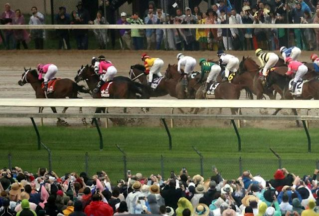 The 146th Kentucky Derby has been postponed until September 5 due to the coronavirus outbreak. (AFP Photo/Jamie SQUIRE)