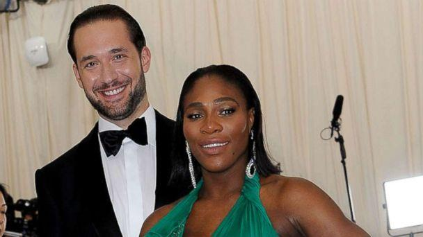 PHOTO: Serena Williams and Alexis Ohanian attends 'Rei Kawakubo/Comme des Garcons: Art Of The In-Between' Costume Institute Gala - Arrivals at Metropolitan Museum of Art, May 1, 2017, in New York City. (Rabbani and Solimene Photography/Getty Images)