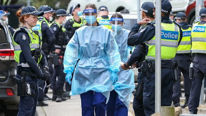Authorities have launched a massive response to the virus outbreak in Melbourne
