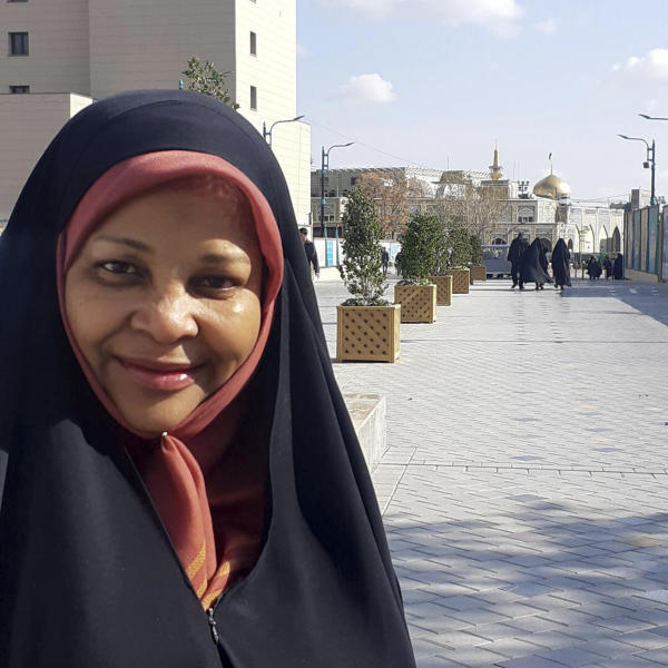 This undated photo provided by Iranian state television's English-language service, Press TV, shows its American-born news anchor Marzieh Hashemi. On Friday, Jan. 18, 2019, Iran's state-run English-language channel reported that its American anchorwoman detained in the U.S. will appear in court in Washington. Press TV said Marzieh Hashemi's court appearance is Friday. (Press TV via AP)