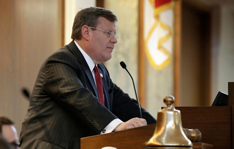 North Carolina House Speaker Tim Moore (R) listens during a special session at the General Assembly in Raleigh, North Carolina, July 24, 2018. (Photo: ASSOCIATED PRESS)