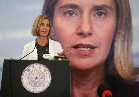 EU's Mogherini, on Moscow visit, says bloc's #Russia sanctions to stay