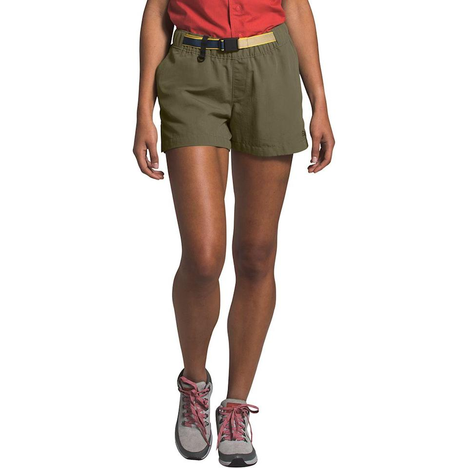 """<h3>The North Face Class V Hike Short</h3> <br>If you're going on a chill nature walk that won't require you going through any sort of brush or field, then a cargo-adjacent short will be the move to keep you cool and breezy.<br><br><strong>The North Face</strong> Class V Hike Short, $, available at <a href=""""https://go.skimresources.com/?id=30283X879131&url=https%3A%2F%2Fwww.backcountry.com%2Fthe-north-face-class-v-hike-short-womens%3F"""" rel=""""nofollow noopener"""" target=""""_blank"""" data-ylk=""""slk:Backcountry"""" class=""""link rapid-noclick-resp"""">Backcountry</a><br>"""