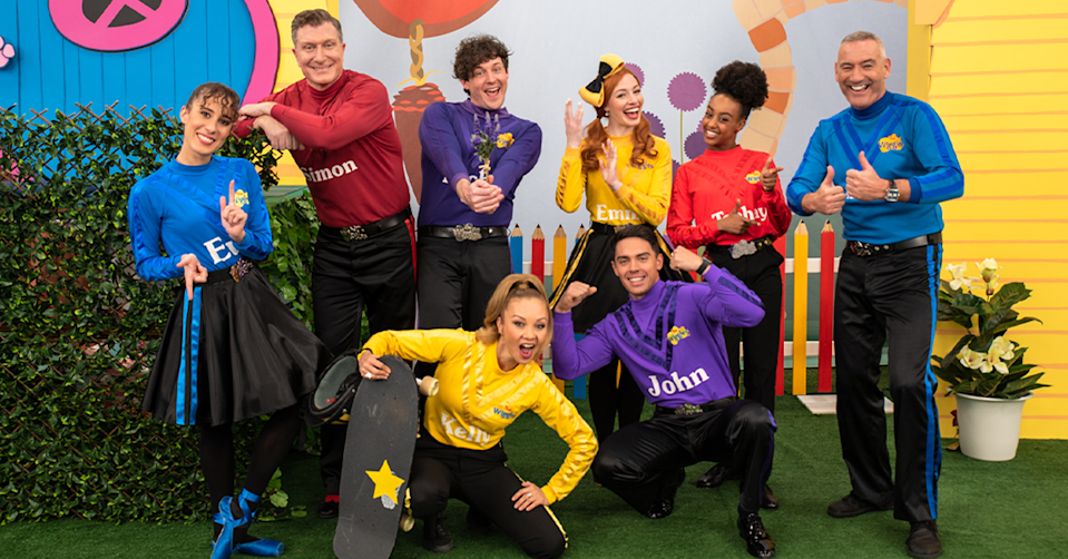 The Wiggles' new line-up.