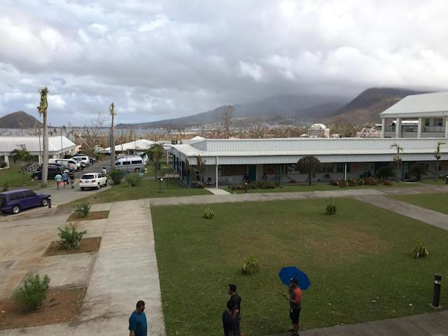 The Dominica campus was destroyedby HurricaneMaria. (Photo: Charlie Spell)