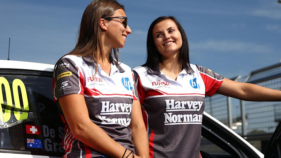 Simona De Silvestro and Renee Gracie, pictured here at the 2015 Bathurst 1000.