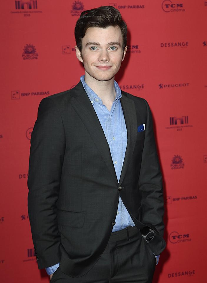 PARIS, FRANCE - JUNE 12: Chris Colfer attends the 'Struck' Premiere As Part of The Champs Elysees Film Festival 2013 at Publicis Champs Elysees on June 12, 2013 in Paris, France.  (Photo by Julien Hekimian/Getty Images)